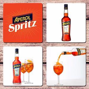 Aperol Spritz Coaster Set of 4 Cocktail Aperitif Collector For Cup Mug