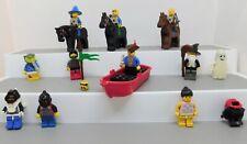 Lot of 11 Lego Minigfigs: Ghost, Pirate w/ Boat, 3 Archers w/ Horses, + MORE!!!