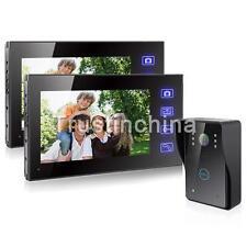 "7""TFT LCD Wireless Video Touch IR Camera Door Phone Doorbell Intercom 2 Monitor"