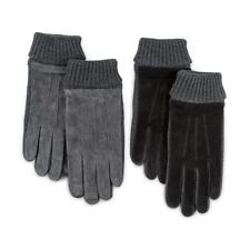Isotoner Mens Smartouch Suede and Knit Gloves