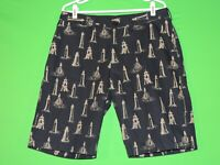 Barbour Mens Size 34 Navy Blue Lighthouse Beach Ocean Casual Shorts