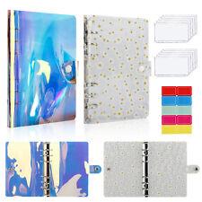A6 Pvc Notebook Binder Cover Planner Loose Leaf Ring Folder Cash Budget Envelope