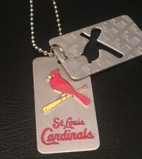 MLB ST. LOUIS CARDINALS Baseball Logo DOG TAG Necklace **NEW** <LAST ONES>