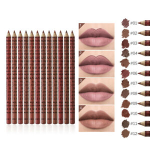 12PCS/Set Waterproof Lip Liner Lipstick Long Lasting Matte Lipliner Pencil Pen z