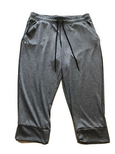 Under Armor Heat Gear Loose Women's Gray  Capri Workout Pants Sz Large Jogger