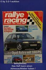Rallye racing 2/92 mantzel Opel Astra Bugatti EB 110