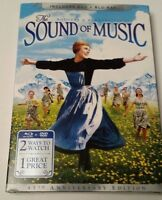 THE  SOUND OF MUSIC 45th ANNIVERSARY EDITION  BLU RAY/DVD NEW  JULIE ANDREWS