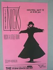 Stevie Nicks 1986 Vintage Orig Music Store Rock A Little Tour Promo Flyer Poster