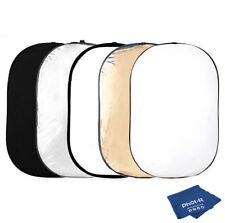 Phot-R 100x150cm 5-in-1 Photo Studio Circular Light Reflector Microfibre Cloth