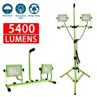 5400 Lumen LED Work Lights Dual Head Weather Resistant with Tripod Stand
