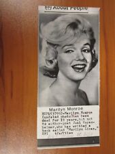Vintage AP Wire Press Photo Actress Marilyn Monroe, Some Like it Hot, Misfits #3