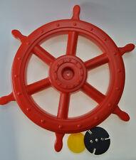 Schiffslenker ROT Ø 540 / 400 mm, Steuerrad Piratenlenker Spielturm Pirat Lenker