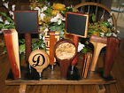 Kentucky whiskey barrel stave 9 beer tap handle compact display stand