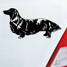 Autoaufkleber LANGHAAR DACKEL Dog Hund Sticker Aufkleber FUN LOW DUB OEM JDM 419