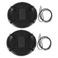 2 x DSLR Camera Front Lens Protective Cap Cover 82mm for Video Camcorders