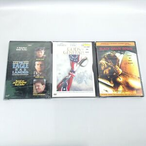 LOT 3 Action Military DVD Movies BLACK HAWK DOWN Eagle Has Landed GODS GENERALS