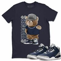 Air Jordan 3 Midnight Navy Bear Swaggers T-Shirt