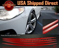 4 Pieces Flexible Slim Fender Flare Lip Extension Red Protector For Honda Acura