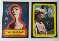 1978 Vintage Close Encounters of the Third Kind Sticker Cards No 1 & 2 Ex+