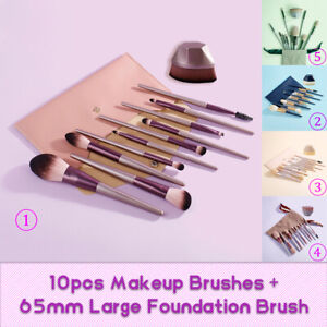 10PCS Beauty Makeup Brushes 65mm Foundation Brush Set Power Eye Face Lip BASF