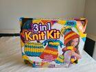 Creative Kids 3 in 1 Knit Kit - NEW Make Handbag, Scarf or Hat - Age 8 +