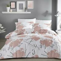 Pink Duvet Covers Blush Floral Geometric Modern Flowers Quilt Cover Bedding Sets
