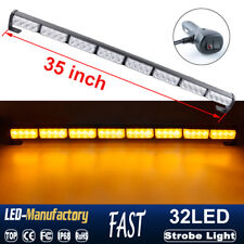 "35"" 32LED Strobe Light Bar Emergency Warning Traffic Advisor Beacon Amber Yellow"