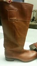 Preowned Frye cognac/tan knee high leather boots. Size 6.5