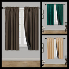"NEW DIFFERENT LINED WINDOW CURTAIN PANEL ROOM DARKENING SOLID COLOR 74"" WIDE"