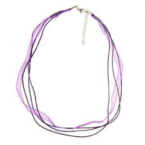 Accessoires création colliers ras ou tour de cou  fil coton et organza 5 pièces