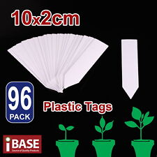 96x Plant Marker Garden Labels Flexible Plastic Tags Nursey Seedling 10x2cm Grey