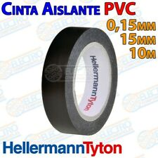 Cinta Aislante ignifuga PVC Negra 10m x 15mm x 0,15mm HellermannTyton - Arduino