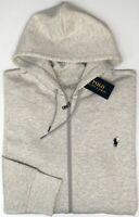 NEW $125 Polo Ralph Lauren Hoodie Gray Long Sleeve Performance Sweatshirt Mens