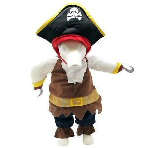 Pet Life 'Captain Snuggles' Pirate Pet Dog Costume Uniform
