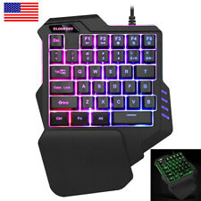 Usb Wired 35 Keys Single One Hand Mechanical Gaming Game Keyboard For Pc Laptop