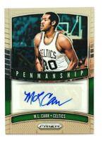 2019-20 Panini Prizm M.L. Carr AUTO Card, Penmanship, Celtics Legend!