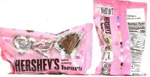 2 Bags Hershey's Milk Chocolate Hearts 140 Calories Per 8 Oz  Best By 12/2021