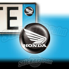 3 ADESIVI targa  HONDA ALI  BIANCO stickers auto moto camper 01