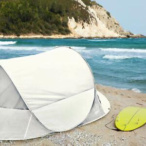 Automatik Strandmuschel XXL Pop-Up  Strandzelt Sonnenschutz Windschutz UV-Schutz