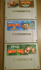 donkey kong snes alle 3 Teile aus Sammlung Famicom nintendo 1 2 3 set  selten