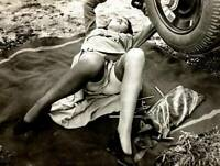 Vintage Miss Mechanic Photo 767b Odd Strange & Bizarre