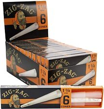 Zig-Zag 1 1/4 Size Cones Full Box 24 PACKS - Rolling Pre Rolled Tips 3 Per Pack