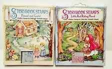 RARE VTG STORYBOOK STAMPS 12 Rubber Foam Stamps Hansel & Gretel, Red Riding Hood