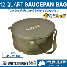 OZtrail 12 Quart Camp Oven Bag Brown Canvas Campfire Cookware Iron Pot Storage