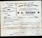 """SAINT-AMAND-MONTROND (18) CAFE / GRANDE BRULERIE DU CENTRE """"A. DOISNE"""" en 1916"""