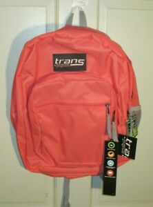 """NWT Trans by Jansport 17"""" Guavapink Backpack"""