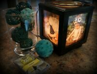 Coo Candles Memory Box Picture Frame, Lamp, and Electric Wax Melt Candle Warmer