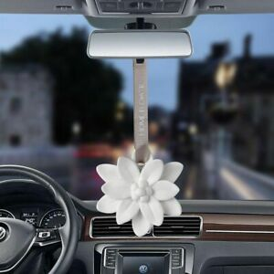 Car Pendant Plaster Flower Auto Decorations Solid Air Mirror Ornament Hanging
