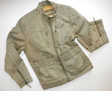 Women's NEW LOOK Military Style Combat Weathered Look Jacket Size M Copper Khaki