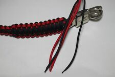 """biker whip motorcycle get back 36 """" inch paracord RED and Black bare ended"""